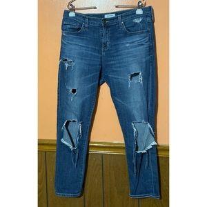 Billie Slim Slouch Destructed Jeans